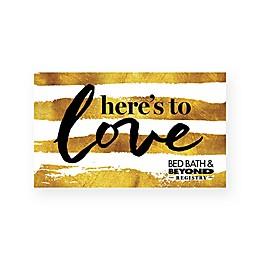 Gold Stripe Wedding Gift Card