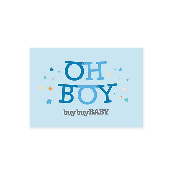 Alternate image 1 for Baby Oh Boy Gift Card