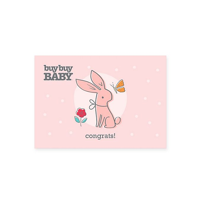 Alternate image 1 for Baby Bunny Congratulations Gift Card