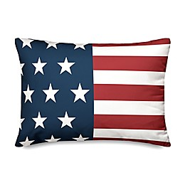 Designs Direct American Flag Oblong Throw Pillow