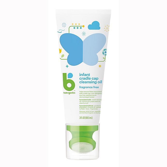 Alternate image 1 for Babyganics® 3 fl. oz. Infant Cradle Cap Cleansing Oil Fragrance-Free