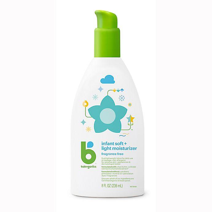 Alternate image 1 for Babyganics® 8 fl. oz. Infant Soft + Light Moisturizer Baby Lotion Fragrance-Free