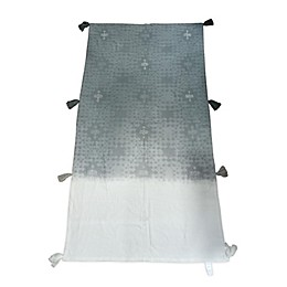Global Caravan Embroidered Bed Runner in Grey