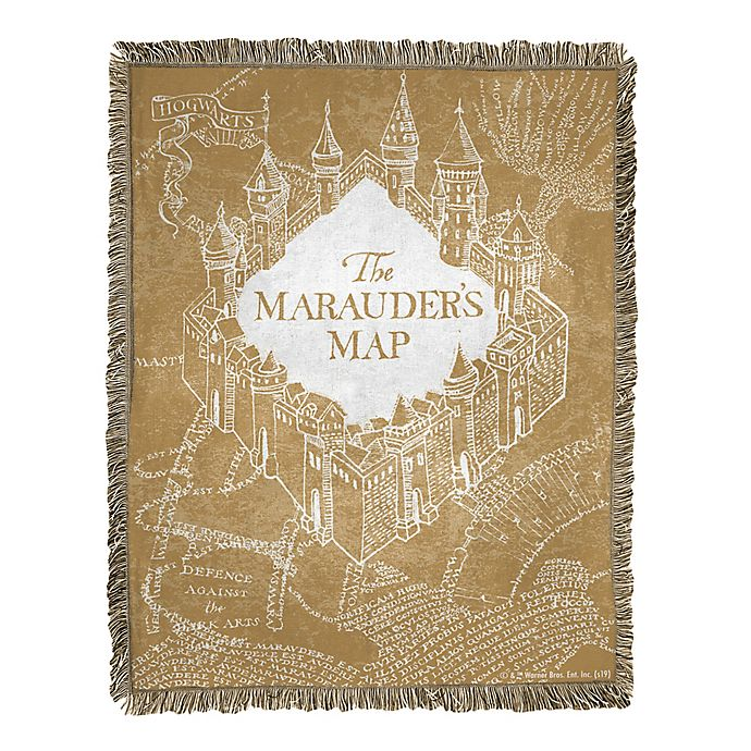 Alternate image 1 for Harry Potter 46x60 Jac Throw - Old Map