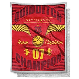 Harry Potter 40x60 ST/Sherpa Throw - Gryff Captain