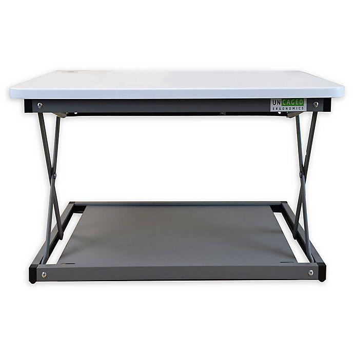 Alternate image 1 for Uncaged Ergonomics CHANGEdesk Mini Standing Desk Conversion in White
