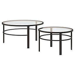 Hudson&Canal Gaia 2-Piece Nesting Coffee Table Set