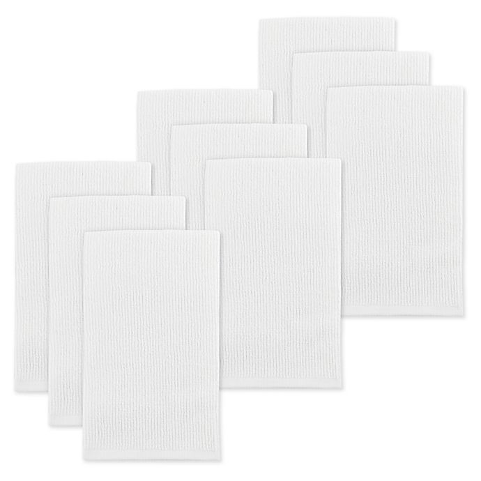 Alternate image 1 for Mu Kitchen™ 9-Pack Bar Mop Towels in White