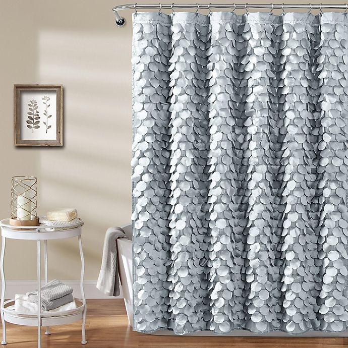 Alternate image 1 for Gigi Shower Curtain in Silver