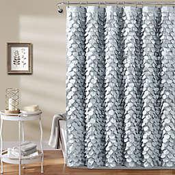 Gigi 54-Inch x 78-Inch Shower Curtain in Silver