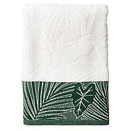 Indoor Garden Bath Towel in Green