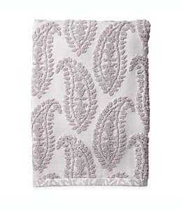 Toalla de medio baño con cachemira texturizada en gris
