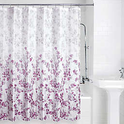 Allure Home Creation Ombre Vine Shower Curtain in Plum