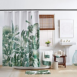 Indoor Garden Shower Curtain in Green