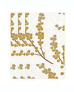 Toallas desechables de 3 capas papel, Berry Branches Caspari 15 piezas en blanco/oro