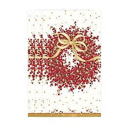 Caspari Pepperberry Branches 15-Count 3-Ply Paper Guest Towels in Red/White