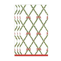 Caspari Garland Trellis 15-Count 3-Ply Paper Guest Towels in White/Multi