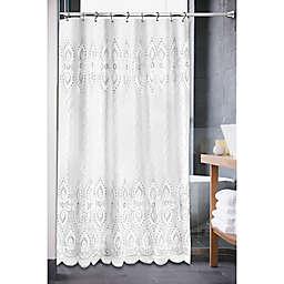 Monaco 72-Inch x 84-Inch Shower Curtain in White