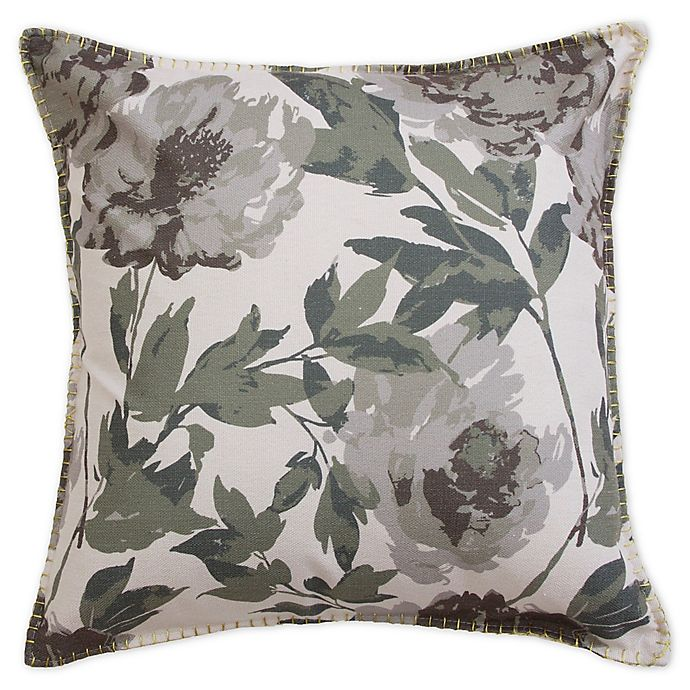 Alternate image 1 for Trudie Square Throw Pillow in Grey