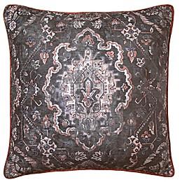 Cadora Square Throw Pillow in Plum