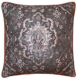 Cadora Square Throw Pillow in Plum