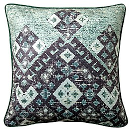 Rekha Square Throw Pillow in Teal