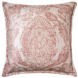 Tavira Square Throw Pillow in Orange