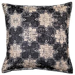 Celeste Square Throw Pillow in Black