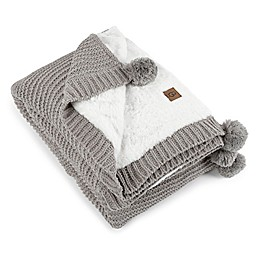 UGG® Cameron Knit Reversible Throw Blanket in Seal