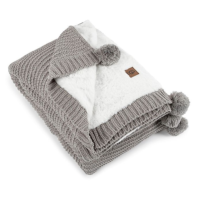 Alternate image 1 for UGG® Cameron Knit Reversible Throw Blanket in Seal