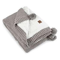 UGG® Cameron Knit Reversible Throw Blanket in Seal
