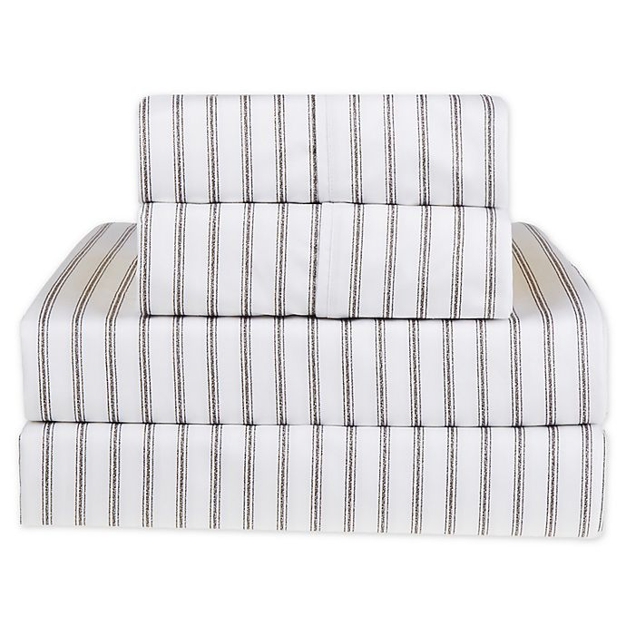 Alternate image 1 for Wamsutta® Ticking Stripe 625-Thread-Count PimaCott® Sheet Set