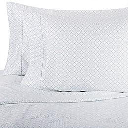 Wamsutta® Lattice 625-Thread-Count PimaCott® Pillowcases in Aqua (Set of 2)