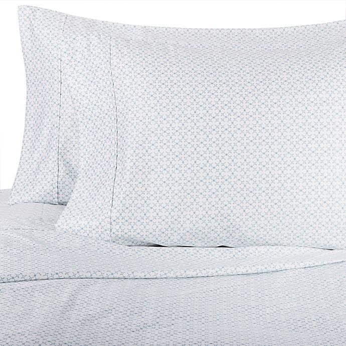 Alternate image 1 for Wamsutta® Lattice 625-Thread-Count PimaCott® Pillowcases in Aqua (Set of 2)