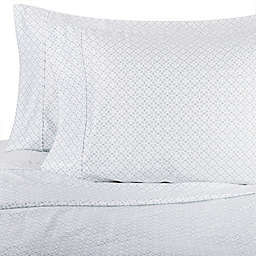 Wamsutta® Lattice 625-Thread-Count PimaCott® Pillowcases in Aqua (Set of 2)