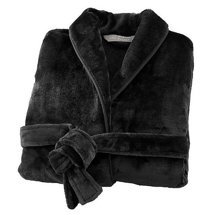 Alternate image 1 for Brookstone® n-a-p® Small/Medium Bathrobe in Black