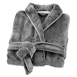 Brookstone® n-a-p® Small/Medium Bathrobe in Dark Grey