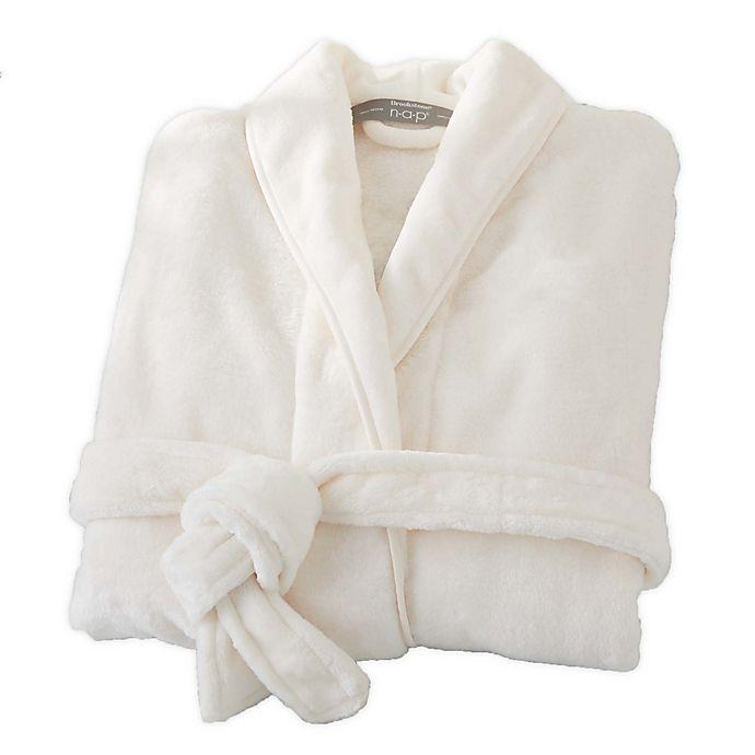 Alternate image 1 for Brookstone® n-a-p® Small/Medium Bathrobe in Ivory