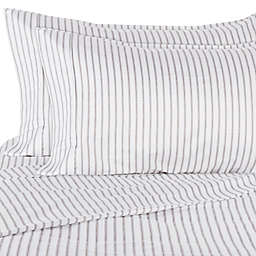 Wamsutta® PimaCott® Ticking Stripe 625-Thread-Count King Pillowcase Set in Charcoal