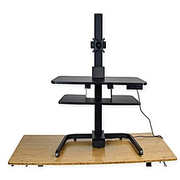 Uncaged Ergonomics Electric Standing Desk Conversion Converter Riser in Black