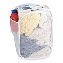 SALT™ Pop-Up Mesh Laundry Hamper in White