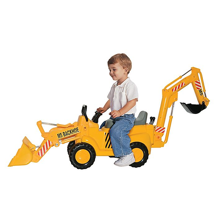 Alternate image 1 for Skyteam Technology M5 Front End Loader & Backhoe Action Ride-On