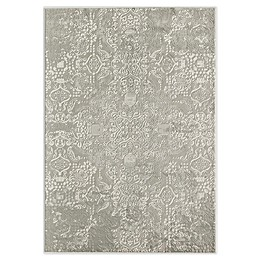 CosmoLiving Duchess Calista Area Rug in White/Grey