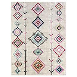CosmoLiving Cyprus Rumi Area Rug in Ivory/Multicolor