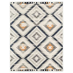 CosmoLiving Cyprus Pembroke 5'3 x 7' Area Rug in Ivory/Gold