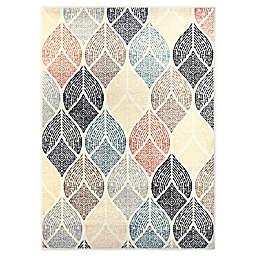 Home Dynamix New Weave Samira Area Rug in Ivory/Beige/Charcoal/Blue