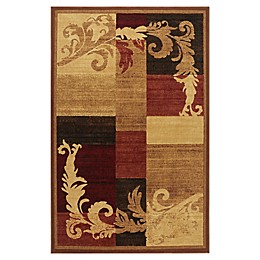 Home Dynamix Catalina Pierre Area Rug in Brown/Red