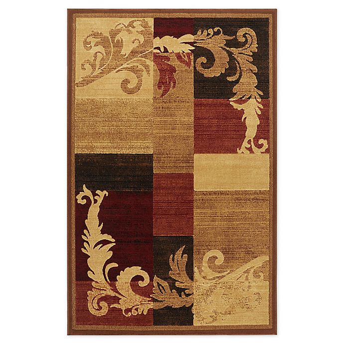 Alternate image 1 for Home Dynamix Catalina Pierre Area Rug in Brown/Red