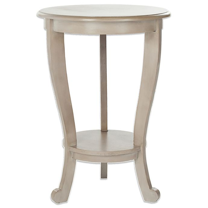 Alternate image 1 for Safavieh Mary Pedestal Side Table in Grey