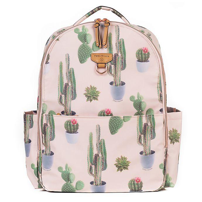 Alternate image 1 for Twelvelittle On The Go Backpack Diaper Bag in Cactus